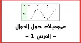 عموميات حول الدوال الدرس 1