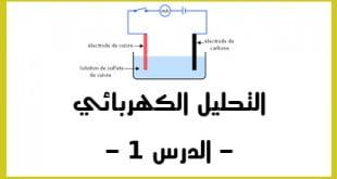 التحليل الكهربائي الدرس 1
