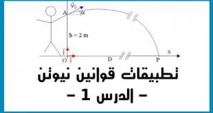 تطبيقات قوانين نيوتن الدرس 1