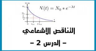 التناقص الاشعاعي الدرس 2