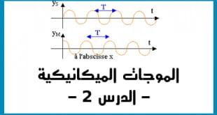 الموجات الميكانيكية المتوالية الدرس 2