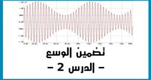 الموجات الكهرومغناطيسية تضمين الوسع الدرس 2