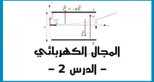 المجال الكهربائي تطبيقات نيوتن الدرس 2