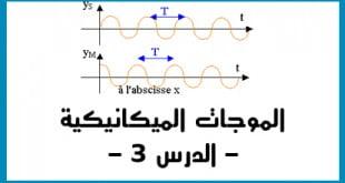 الموجات الميكانيكية المتوالية الدرس 3