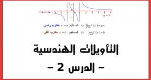 التأويلات الهندسية للنهايات الدرس 2