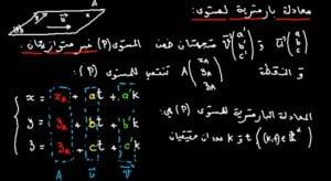 المعادلة-البارامترية-لمستوى-768x421
